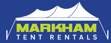 Logo for Markham Tent Rentals, West Gardiner, Maine.