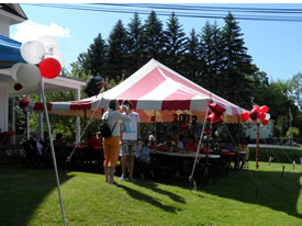 Markham Tent Rentals are clean, in good shape and come with solid white sides.