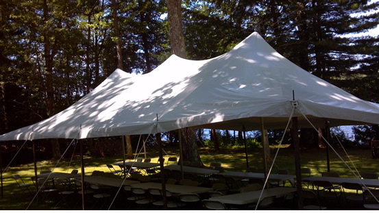 Markham Tent Rentals are high quality tents, sizes start at 20' x 20'.