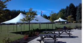 Markham Tent Rentals will buld whole plywood floors to fit your tent size.